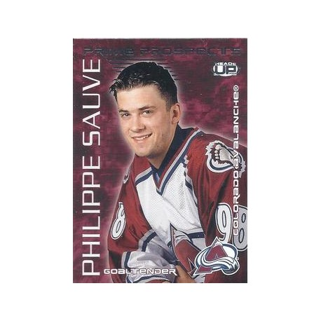 2003-04 Pacific Heads Up Prime Prospects c. 006 Philippe Sauve COL
