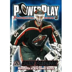 2001-02 Pacific Adrenaline PowerPlay c. 019 Manny Fernandez MIN