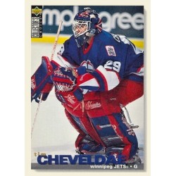 1995-96 UD Collectors Choice c. 319 Tim Cheveldae WIN