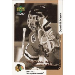1999-00 Upper Deck Retro The Year Rookie c. McD-3R Dominik Hasek CHI