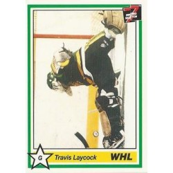 1990-91 7th Inning Sketch WHL c. 272 Travis Laycock