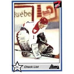 1990-91 7th Inning Sketch QMJHL c. 162 Victoriaville Tigres Checklist