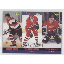 1994 Classic Tri Card c. T19 T19 Curtis Bowen / T20 Yan Golubovsky / T21 Kevin Hodson DET