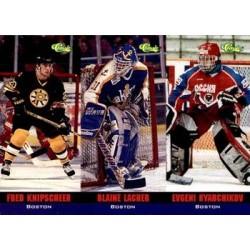 1994 Classic Tri Card c. T04 T4 - Fred Knipscheer / T5 Blaine Lacher / T6 Evgeni Ryabchikov