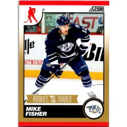 2010-11 Score Rookies & Trades Gold c. 582 Mike Fisher NAS