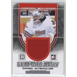 2013-14 Between The Pipes Game-Used Silver Jersey /180 c. GUM-10 Daniel Altshuller