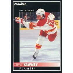 1992-93 Pinnacle c. 174 Trent Yawney CGY
