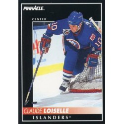 1992-93 Pinnacle c. 219 Claude Loiselle NYI