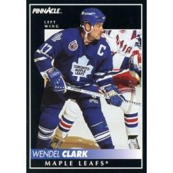1992-93 Pinnacle c. 276 Wendel Clark TOR