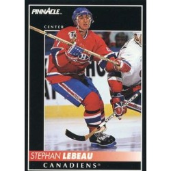 1992-93 Pinnacle c. 341 Stephan Lebeau MON