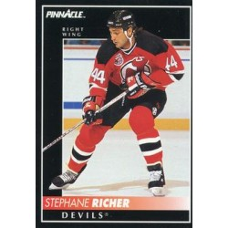 1992-93 Pinnacle c. 361 Stephane Richer NJD
