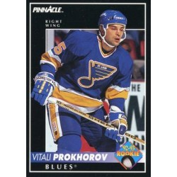 1992-93 Pinnacle c. 404 Vitali Prokhorov RC STL