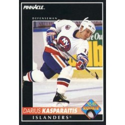 1992-93 Pinnacle c. 407 Darius Kasparaitis NYI