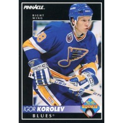1992-93 Pinnacle c. 417 Igor Korolev RC STL