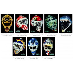 1992-93 Pinnacle MASKS c. 263 Kompetni set 8 karet Richter, Moog, Cheveldae, Beaupre, Fuhr, Hayward, Belfour, Jospeh