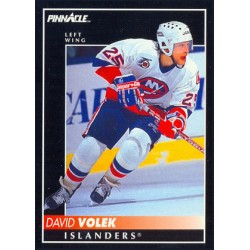 1992-93 Pinnacle c. 188 David Volek NYI
