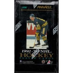 1992-93 Pinnacle Hobby Box 36 balíčků po 16ti kartách