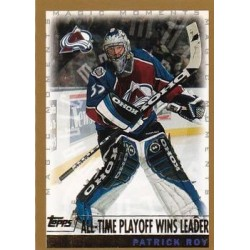 1999-00 Topps [Magic Moments - All-Time Playoff Wins Leader] c. 284_5 Patrick Roy COL