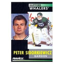 1991-92 Pinnacle Canadian c. 234 Peter Sidorkiewicz HFD