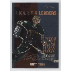 2003-04 ITG Action Leaders [GAA & Save Percentage] c. LL-5 Marty Turco DAL