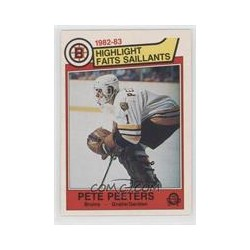 1982-83 Topps Highlight Faits Saillants c. 044 Pete Peeters BOS