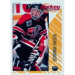 1992-93 Panini Stickers FRENCH c. 292 Dominik Hasek CHI
