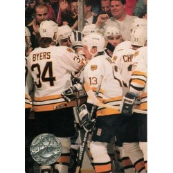 1991-92 Pro Set Platinum c. 140 Boston Bruins PP BOS