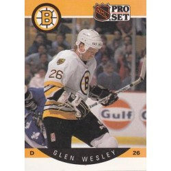 1990-91 Pro Set c. 016 Glen Wesley BOS