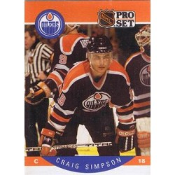 1990-91 Pro Set c. 095 Craig Simpson EDM