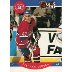 1990-91 Pro Set c. 152 Stephan Lebeau MON