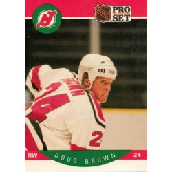 1990-91 Pro Set c. 163 Doug Brown NJD