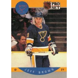 1990-91 Pro Set c. 260 Jeff Brown STL