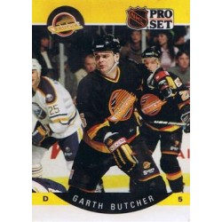 1990-91 Pro Set c. 295 Garth Butcher VAN