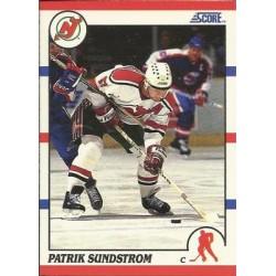 1990-91 Score American c. 019 Patrik Sundstrom NJD