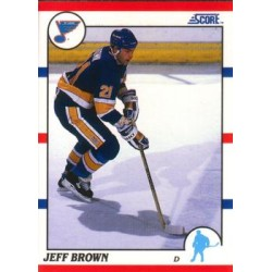 1990-91 Score American c. 041 Jeff Brown STL