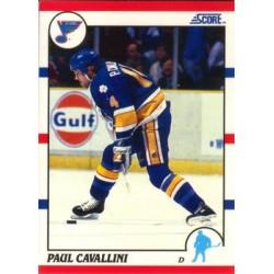 1990-91 Score American c. 185 Paul Cavallini STL