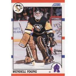 1990-91 Score American c. 298 Wendell Young PIT