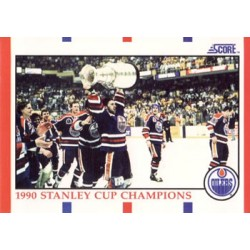 1990-91 Score American c. 331 1990 Stanley Cup Champions Mark Messier AW EDM