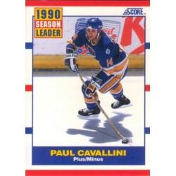 1990-91 Score American c. 349 Paul Cavallini STL