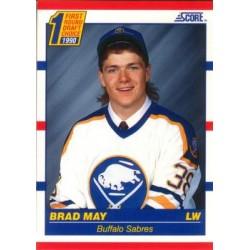 1990-91 Score American c. 427 Brad May BUF
