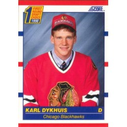 1990-91 Score American c. 437 Karl Dykhuis CHI