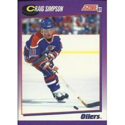 1991-92 Score American c. 255 Craig Simpson EDM