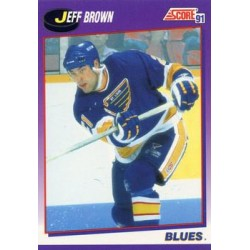 1991-92 Score American c. 276 Jeff Brown STL