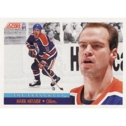 1991-92 Score Canadian English (Red) c. 310 Mark Messier EDM