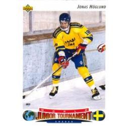 1992-93 Upper Deck c. 222 Jonas Hoglund SWE