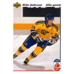 1991-92 Upper Deck French c. 029 Nicklas Andersson SWE