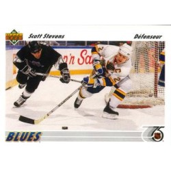 1991-92 Upper Deck French c. 132 Scott Stevens STL
