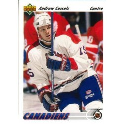 1991-92 Upper Deck French c. 379 Andrew Cassels MON