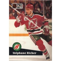1991-92 Pro Set c. 420 Stephane Richer NJD