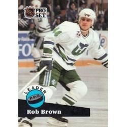 1991-92 Pro Set c. 606 Rob Brown HFD